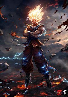 Cool as shit. Assuming it's fan art of Goku.
