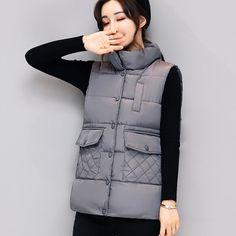 Women Vest Waistcoat 2017 Autumn Winter Short Vest Female Cotton Padded Sleeveless Jacket Women's White Black Vest Coats. Yesterday's price: US $24.82 (20.56 EUR). Today's price: US $17.13 (14.06 EUR). Discount: 31%.
