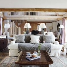 I want this to be the other half of the other living room i just pinned. so comfy and inviting!