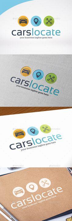 Car Locator Logo Template — Vector EPS #motor logo #sportcar • Available here → https://graphicriver.net/item/car-locator-logo-template/13623109?ref=pxcr