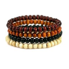 Men's beaded bracelets || Four pack for $15. Shop now at www.taftclothing.com.