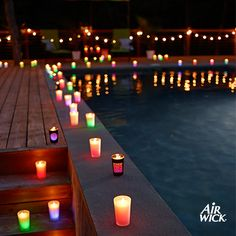 Light up your #summer nights and make a warm weather party extra special with #AirWick #ColorChangingCandles.