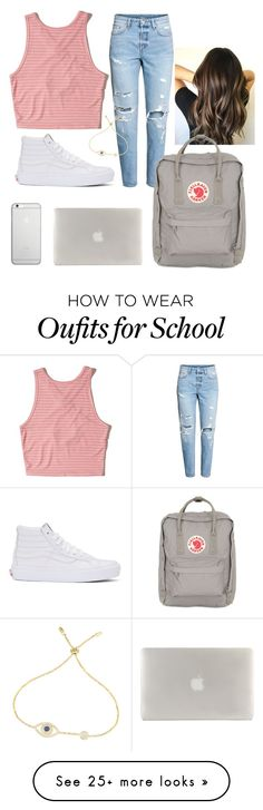 """""""School"""" by kpescobar on Polyvore featuring Hollister Co., Vans, Native Union, Tucano and Fjällräven"""