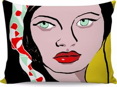 Digital Illustration on a pillow. More products available