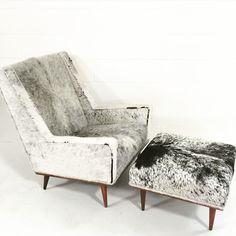 Milo Baughman Chair & Ottoman Interior Styling, Interior Design, Chair And Ottoman Set, Club Chairs, Contemporary Furniture, Furniture Decor, Milo Baughman, Love Seat, Armchair