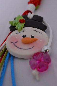 Llavero muñeco de nieve Navidad