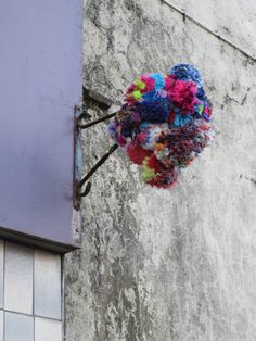 Pompom flowers at Maison Gina on Montague Street, recipient of Rothesay THI regeneration funding