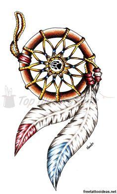 Native American #tattoo - http://www.freetattooideas.net/category/native-american-tattoos/