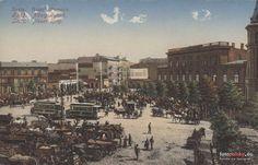 pl. Wolności (Nowy Rynek, Freiheitsplatz, Deutschlandplatz), Łódź - 1905 rok, stare zdjęcia