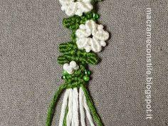 Tutorial fotografico braccialetto macramè a fiori