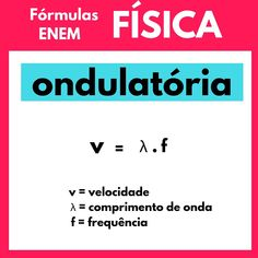 Physical Formulas - ENEM - I will separate several Chemistry formulas that fall into the .