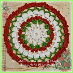 sunshine and a sewing basket: Snowflake Mandala