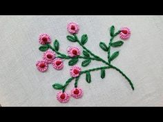 Hand embroidery designs. Hand embroidery stitches. White work embroidery. - YouTube