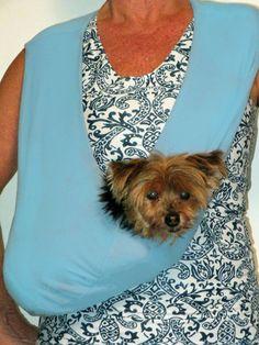 Yorkie, Chihuahua, Pet Sling, Daisy Mae, Shoulder Sling, Dog Things, Dog Carrier, Nylon Bag, Pet Stuff