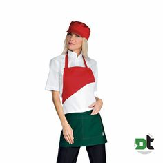 GREMBIULE UNISEX LOLLIPOP TRICOLORE ISACCO - pizzaiolo gelateria bar pizzeria