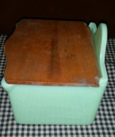 Very RARE Jeanette Jadeite Salt Box Immaculate Vintage Nice McKee Fire King | eBay