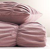 Ruched Velvet Duvet Cover