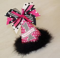 Hot Pink and Black Polka Dot Party Hat