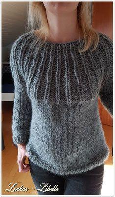 Der Sweater wird von unten nach oben gestrickt (RVU). Konfessionsgröße S.  Ich 93c4ab994430