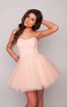 Sukienkowo.pl - Tiulowa sukienka 3 warstwy mega rozłożysta pudrowo różowa AVRIL