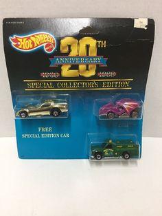 Hot Wheels 20th Anniversary 3 Cars Special Edition 1988 New #Mattel #Mixedlot