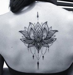 Lotus tattoo on back More