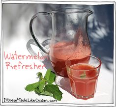 Refresher! A delicious summery watermelon, mint, and cucumber ...