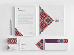 Modern Colorful Pattern Stationery