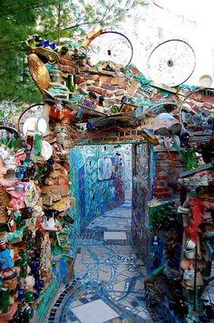 Philadelphia's Magic Gardens - This is beyond marvelous! How I would love to see this.