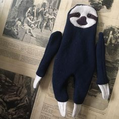 "1 Likes, 1 Comments - Cat Owen (@raggyrat) on Instagram: ""#WIP #SLOTH #doll #plush #handmade #theraggyrat"""