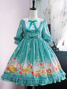 Cheap Pumpkin Cat -Spun Sugar Rabbit- Middle Sleeves Lolita OP Dress Sale At Lolita Dresses Online Shop. We provide Lolita products with quality and best service online, lower price and top style fashion for you. Harajuku Mode, Harajuku Fashion, Kawaii Fashion, Lolita Fashion, Girls Party Dress, Baby Dress, Japanese Fashion, Asian Fashion, Little Girl Dresses