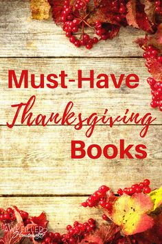 Must Have Thanksgiving Books
