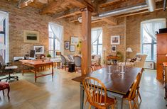 Robert Watson Lofts Listings - For Sale - Updated Daily Toronto Lofts, Granite Kitchen Counters, Brick And Wood, Exposed Brick Walls, Old Bricks, Small Buildings, Polished Concrete, Wood Ceilings