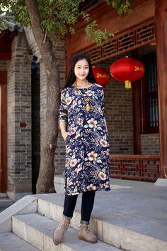 Long plus size dresses cotton