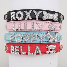 From 5.09 Personalised Dog Puppy Cat Pet Name Collar(redm)