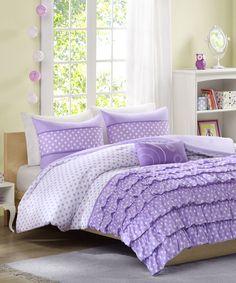Another great find on #zulily! Purple Morgan Comforter Set #zulilyfinds
