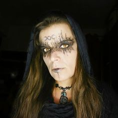 Moon Sorceress Halloween makeup. Wicca inspired.
