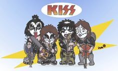 rock band cartoons | Cartoon: Kiss (medium) by isacomics tagged isacomics,isa,comics,music