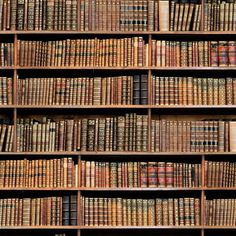 Vintage Library Books Bookshelf Photo Digital Printed Full Colour Designer Cotton Curtain Upholstery Fabric - Free UK Postage