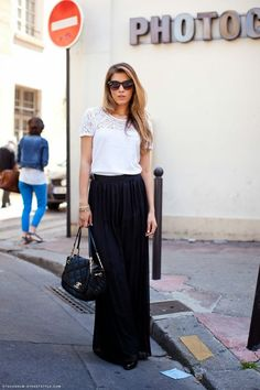 48 Maxi Skirt The Best Street Style Choice For This Summer Cool Street Fashion, Work Fashion, Fat Fashion, Office Fashion, Fashion Black, Street Chic, Urban Fashion, Fashion Design, Fashion Trends