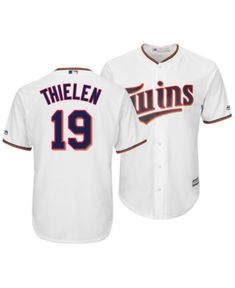 28d2e011660 Majestic Men s Adam Thielen Minnesota Twins Nflpa Replica Cool Base Jersey