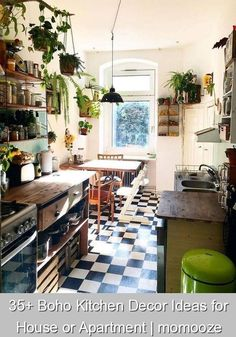 35+ Boho Kitchen Decor Ideas for House or Apartment | momooze {445141} #farmhouse #kitchen #farmhousekitchen  Boho Kitchen Decor Ideas for House or Apartment | momooze | #bohokitchen #bohodecor #modernboho Home Decor Kitchen, Kitchen Design Small, Kitchen Remodel, Kitchen Decor, Boho Kitchen, Home Decor, Boho Kitchen Decor, Kitchen Layout, Kitchen Design