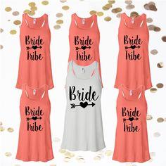 Bride Tribe Racerback Tank Tops, Customize Your Color, XS-XL,Bachelorette Party…