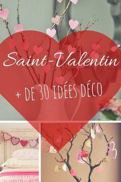 Deco St Valentin : + de 30 Idées de Décoration pour Une Saint Valentin Inoubliable http://www.homelisty.com/deco-st-valentin/