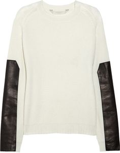 Reed Krakoff, Leathertrimmed Cashmere Sweater