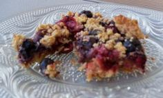 Added Blueberry-Raspberry Bar Variation to my basic Blueberry Oat Nut Bar recipe. Plus 1/4 c. more butter. Served under ice cream. People are moaning with pleasure. (I've made these vegan and gluten-free and they are delicious.)