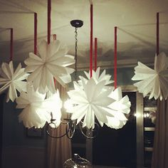 Hanging Paper Snowflakes