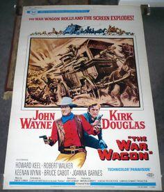 THE WAR WAGON original large 40x60 poster JOHN WAYNE/KIRK DOUGLAS John Wayne, Joanna Barnes, Howard Keel, Robert Walker, Kirk Douglas, American Legend, Movie Stars, The Originals, Poster