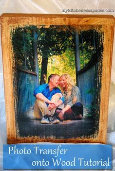 Photo transfer to wood tutorial on how to transfer color photos onto wood using gel medium. Makes easy DIY gifts for Christmas or birthdays.