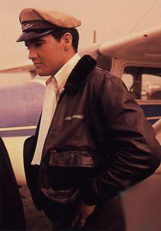 Elvis Presley in leather